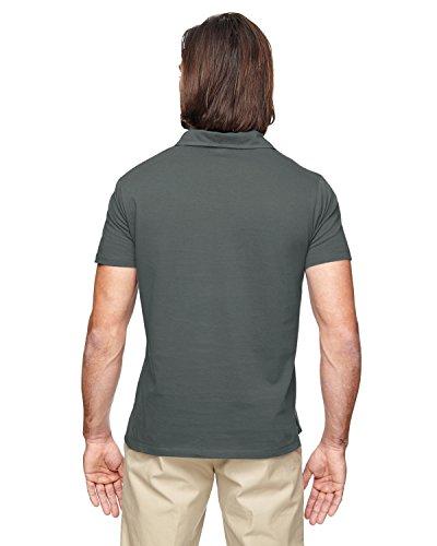 ec2505econscious Herren 4.4oz, 100% Bio-Baumwolle Jersey Kurzarm Polo Dunkelgrau