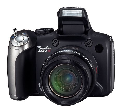 Canon PowerShot SX20 IS Digitalkamera (12 MP, 20-fach opt. Zoom, 6,4cm (2,5 Zoll) LCD-Display, HD-Movie, HDMI) schwarz