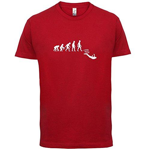 Evolution Of Man Bungeespringen - Herren T-Shirt - 13 Farben Rot