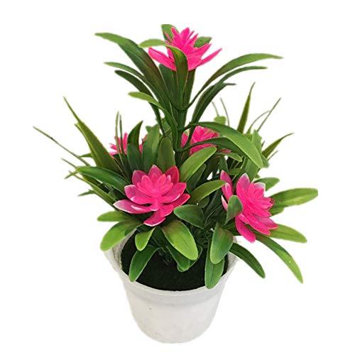 AchidistviQ Künstliche Lotusblume Topfpflanze Bonsai Hochzeit Party Garten Home Decor