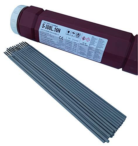 Schweißelektroden Edelstahl 1.4316 (308L) V2A /1.4430 (316) V4A INOX NIRO (Edelstahl V2A, Ø2,5 x 300mm 1,0kg)
