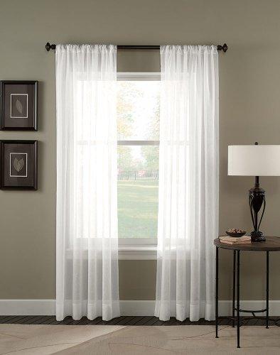 Crinkle-voile (Curtainworks Trinity Crinkle Voile Sheer Curtain Panel, 51 by 132, Winter by Curtainworks)