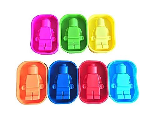 Gogoe Lot de 7bacs à glaçons en silicone en forme de figurine Lego