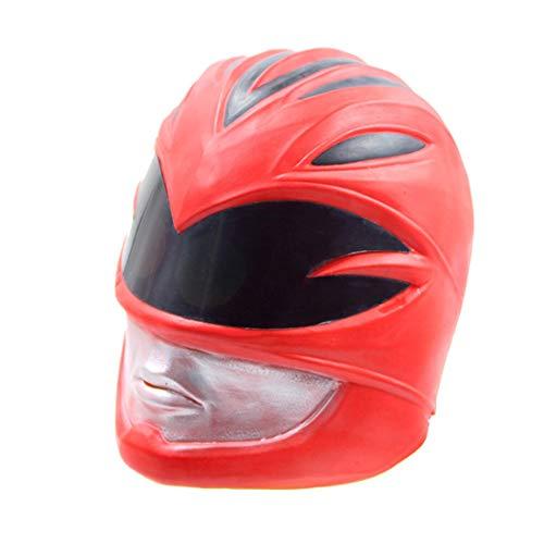 Halloween Ein Kostüm Team - VUKUB Dinosaurier Team Maske Halloween Dekoration Kostüm Maske Cosplay Vollkopf Maske Latex