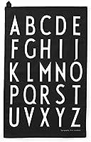 Design Letters Geschirrtuch 2er-Set schwarz Motiv A-Z 10201800-B