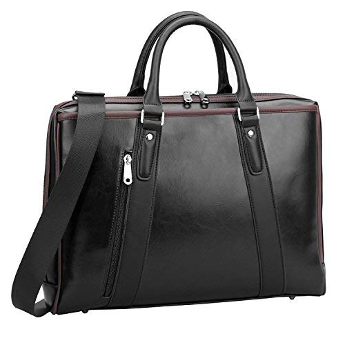 ronts Laptop Aktentasche PU Leder Business Office Tasche für Herren Damen Schulter Handtasche für 39,6 cm Notebook MacBook Tablet Schwarz Schwarz OneSize Hp Portable Mp3