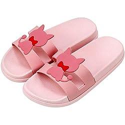 NIGHT WALL Chanclas Chanclas de Verano Sandalias Chanclas, Sandalias de Gato, 43, Polvo de camarón Verano Antideslizante para Zapatos Interiores Transpirables
