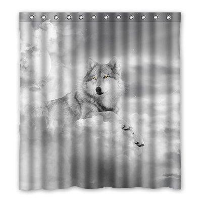 Dalliy Brauch wolf Wasserdicht Polyester Shower Curtain Duschvorhang 167cm x 183cm