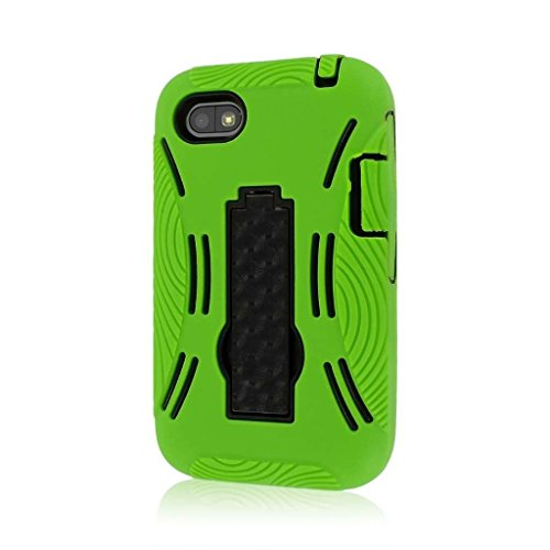 MPERO Impact XL Series Kickstand Case Tasche Hülle for BlackBerry Q5 - Neon Grün