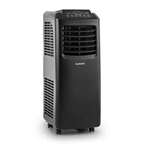 Luft-schlauch-schalter (Klarstein Pure Blizzard 3 2G 3-in-1 Klimagerät mobiler Luftentfeuchter Ventilator (Energieeffizienzklasse A, 7000 BTU/h, 19,2 Liter Wassertank, bis 65 m³, geräuscharm, Timer) schwarz)