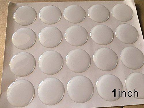 3d-epoxy (Meya Set 100Kristall klar Kunstharz Dot Selbstklebende Aufkleber 2,5cm Circle für Anhänger, Handwerk, Scrapbooking 3D Epoxy Dome Aufkleber)
