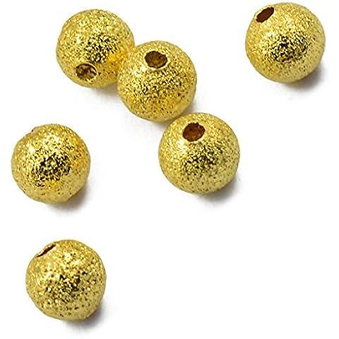 50pcs 6mm Ottone Rotonda Polvere Di Stelle Distanziatore Perline Gioielli Fai Da Te Fare L'oro