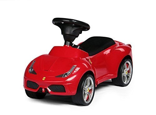 Leomark Ferrari 458 Licenced Push Along Car Ride On Foot To Floor First Car Baby Racer Toddle Kid