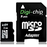 Digi-Chip 32 GO CLASS 10 UHS-1 MICRO-SD CARTE MÉMOIRE POUR Crosstour, Campark, Wimius, Yuntab, Otha, YI, YI 2K, Victsing Caméra d'action