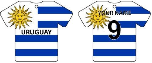 AAF Ambientador De Coche Personalizado URUGUAY FLAG JERSEY