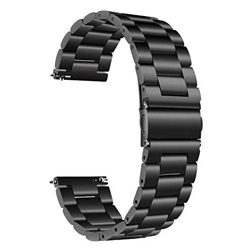 TRUMiRR para Samsung Galaxy Watch 42mm Band, 20mm Correa de Reloj de Pulsera de Metal con Correa de Acero Inoxidable sólido para Galaxy Watch 42mm R810 R815 / Gear Sport/Gear S2 Classic R732 R735