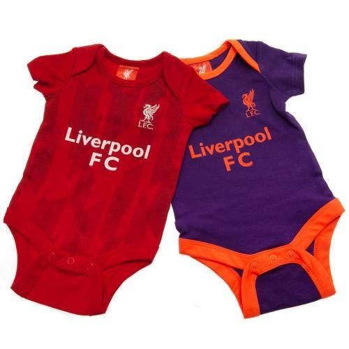 f941c82c61327 Liverpool FC Ensemble de 2 Mignon Bébé Onesie - Authentique EPL - Rouge