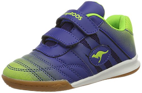 KangaROOS Unisex-Kinder Chelo Court V Low-Top, Blau (Royal/Lime), 32 EU