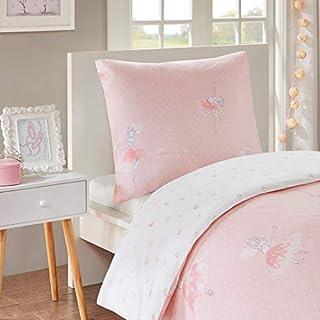 SCM Children's Amelia Printed Duvet Cover and Pillowcase Set, Luxury Trendy Quilt Bedding Set (Multi-Pink, single DE)