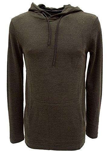 TOM TAILOR Denim Herren Piqué Hoody Longsleeve Shirt - 2 Farben Grün (Woodland Green 7807)