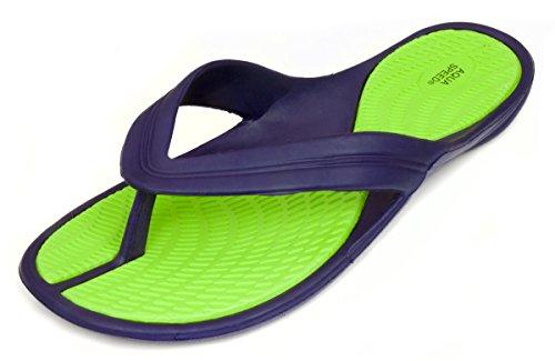 Aqua Speed - Aruba Damen Badelatschen  , Mehrfarbig (Violett/Grün) , 41