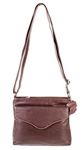 Rl 667 Londres Marron en Cuir Véritable Mesdames sac à main – petit Oxbridge Fashion Sac à bandoulière