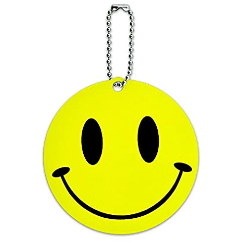 Smile Smiley Face Round Luggage ID Tag Card Suitcase Carry-On