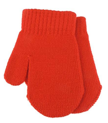 Warme Winter-Fäustlinge für Babys und Jungen, Einheitsgröße (0-6 Monate) rot rot (Warm Fancy Dress Ideen)