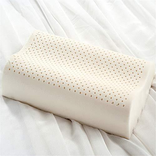 Pillow-top-king-size-matratze (KGGOPREAn Latex-Schlafkissen zervikale orthopädische Nackenkissen Schlafzimmer weiß Memory Pillow White 50x30cm)