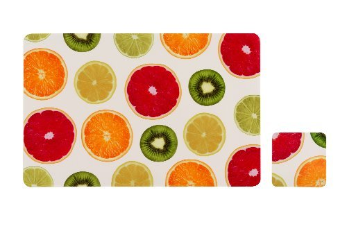 6 X Premier Housewares Juicy Fruity Placemats And Coasters, Set of 4