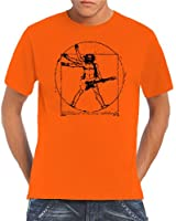 Touchlines - T-Shirt Da Vinci Rock Guitar, T-shirt da uomo