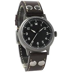 Laco 1925 861736 - Reloj analógico mecánico para mujer, correa de cuero color marrón