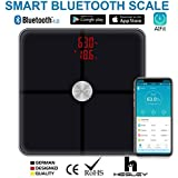 HESLEY Premium Smart Bluetooth Body Fat Scale ,BMI Scale Wireless Digital Bathroom Weight Scale With 18 Essential...