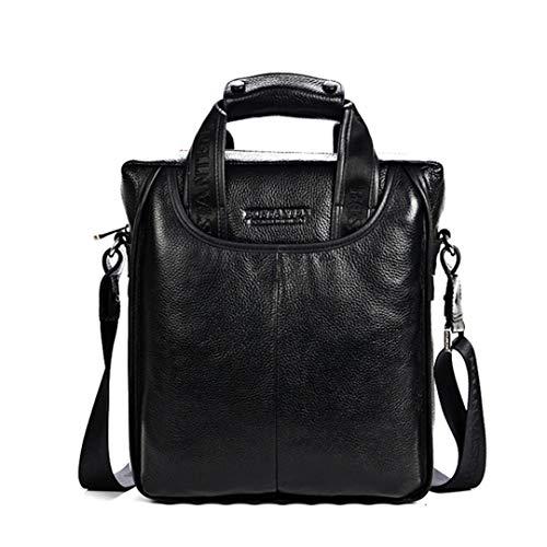 Herrentasche Business Messenger Portable Aktentasche Laptop Casual Geldbörse Black Small -