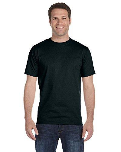 Hanes Herren T-Shirt Tagless Beefy (2XLarge) (Schwarz)