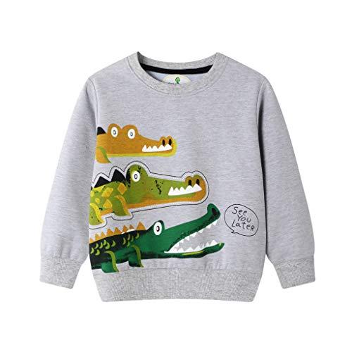 Baby Hemden,Kobay Kleinkind Kinder Baby Jungen Mädchen Sweatshirt Cartoon Print Pullover Kleidung Outfits