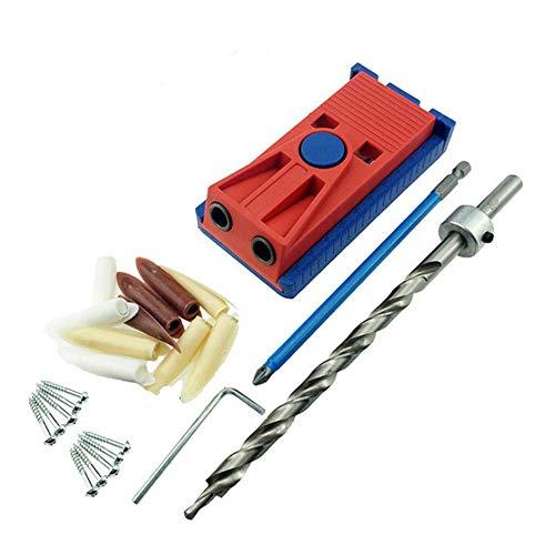 Timstore Locator Punch Holzbearbeitung Punch Bohrmaschine Positionierung Schrägbohrhilfe Set Autowerkzeuge