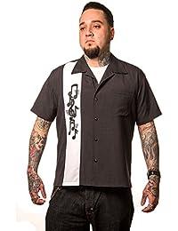 5ba60d83361987 Steady Clothing Herren Vintage Bowling Hemd - Music Note Retro Bowling Shirt