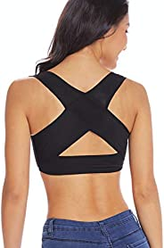 Chest Brace Up for Women Posture Corrector Shapewear Tops Bra Support Vest Back X Strap Shaper