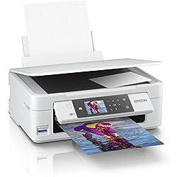 Epson Expression Home Imprimante multifonction jet d'encre 3-en-1 XP-455 (impression, numérisation, copie, Wifi, affichage 6,8 cm, cartouches simples, 4 couleurs, format A4), blanc