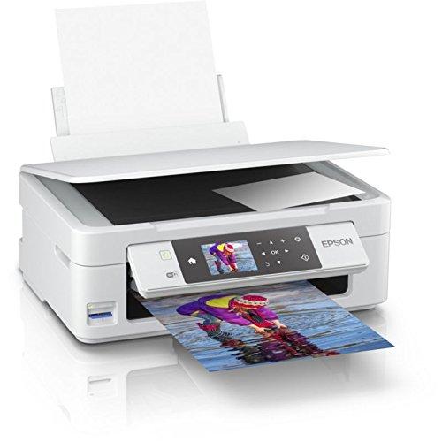 Epson Expression Home XP-455. Tecnología de impresión: Inyección de tinta, Impresión: Impresión a color. Resolución máxima: 5760 x 1440 DPI, Velocidad de impresión (color, calidad normal, A4/US Carta): 15 ppm. Copiando: Copia a color, Escaneando: Esc...