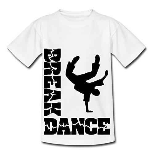 Breakdance - Y T-shirt Enfant de Spreadshirt®, 122/128 (7-8 ans), blanc