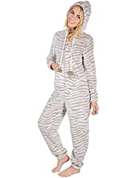 Autumn Faith Ladies Fleece All In One Piece Nightwear 8b3cb66ef