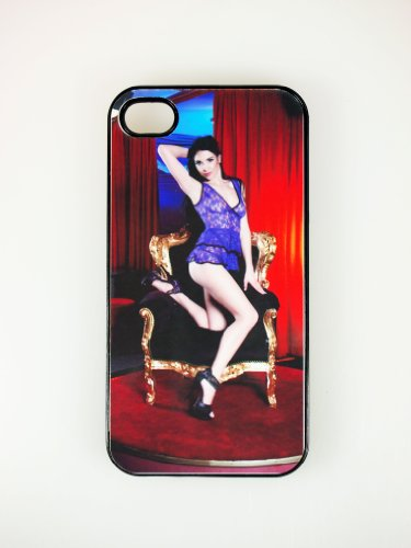 Sexy-star porno sweet sophie coque rigide pour iPhone 4 noir motif#02