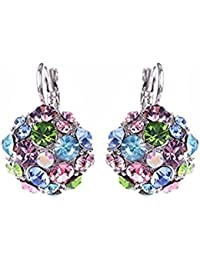 Pendientes de mujer con diamantes de imitación y un par de pendientes