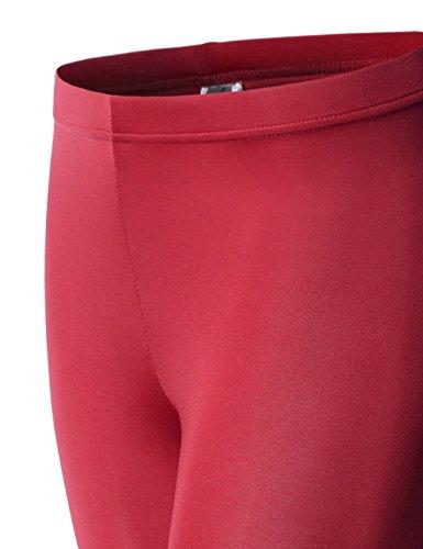 Nearkin Damen Leggings, Durchgehend NKNKW7L-RED