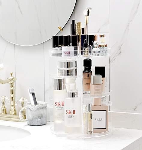 Schmink Aufbewahrung Make up Organizer 360 Drehbarer Acryl Kosmetik Organizer Cosmetic Makeup Organisator Schminkaufbewahrung Kosmetikaufbeahrung Box -