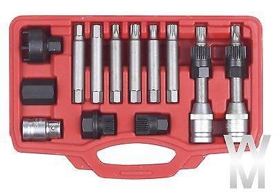 Preisvergleich Produktbild 13-tlg Lichtmaschinen Werkzeug Lichtmaschine Freilauf Abzieher Generator Riemenscheibe Arretier-Werkzeug