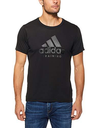 Adidas freelift logo maglietta a maniche corte da uomo, uomo, di0398, nero, l