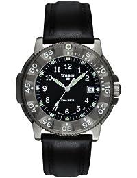Traser H3 Commander Titan 100 - Reloj de titanio con correa de piel, color negro